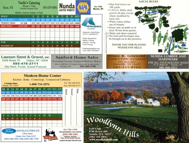 Woodlynn Hills Golf Course Scorecard